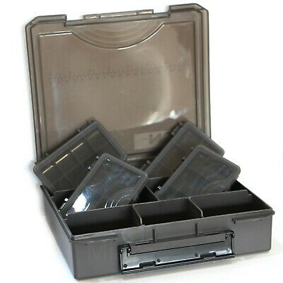 New Model NGT Standard Carp Fishing Tackle Box + 4 Bit Boxes • 10.95£