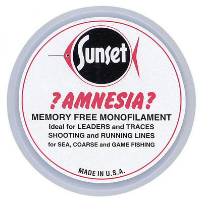 Amnesia Sunset Clear Memory Free Monofilament Fishing Hooklink Line NEW • 6.49£