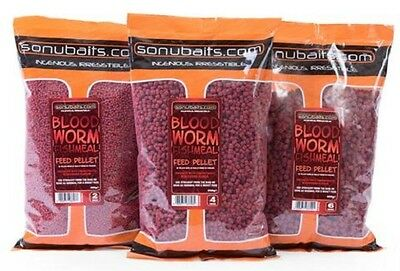 Sonubaits NEW Coarse Fishing Bloodworm Fishmeal Feed Pellet *All Sizes* • 6.90£