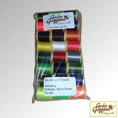 Gordon Griffiths Thread Mix Pack 24 Spools Mixed Colours & Types (T) • 15£