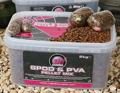 Mainline Spod And PVA Pellet Mix 2kg NEW Carp Fishing Sinking Pellet Mix • 12.99£