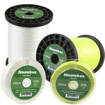 Snowbee Braided Dacron Fly Line Backing 100m, 200m, 300m & 1250m In 20lb & 30lb • 16£