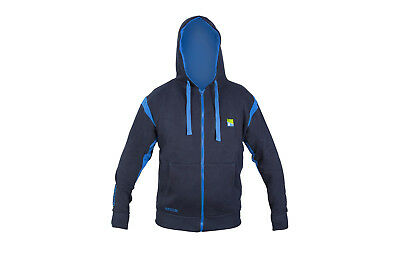 Preston Navy Blue Zip Front Hoody *All Sizes* NEW Coarse Fishing Hoody • 31.99£