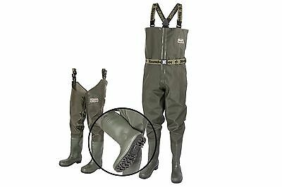 Snowbee Heavy Duty GRANITE PVC Chest Waders & Thigh Waders With Cleated Sole • 47.99£