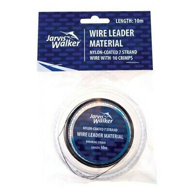 Jarvis Walker Nylon Coated Trace Wire With 10 Crimps Available In 20lb To 100lb • 2.65£