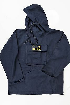 TITAN ™ Original Cotton Hooded Fishermans Fishing Anglers Hoodie Smock BRAND NEW • 44.99£