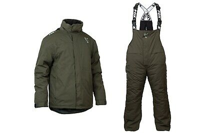 Fox Carp Winter Suit NEW Fishing Thermal Suit *All Sizes* Jacket / Bib And Brace • 159.99£