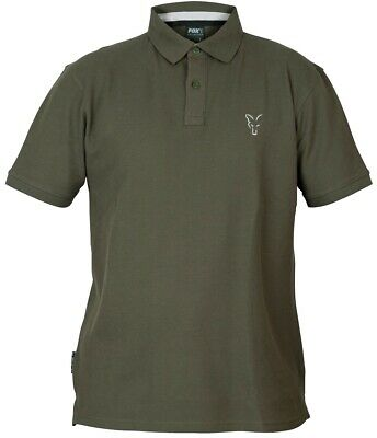 Fox Collection Green Silver Polo Shirt NEW Mens Fishing Polo Shirt *All Sizes* • 19.99£