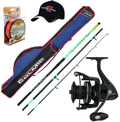 Kp3912 Surf Kit Rod Colmic Adiva 420 Reel Shamal Hat Sheath Hat • 126.65£