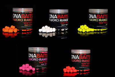 DNA Baits Fluoro Dumbell Wafter *All Types* NEW Fishing Bait Dumbell Wafters • 8.49£