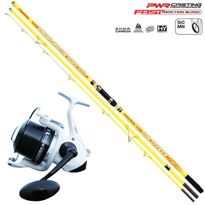 KP3972 Andromeda Surf Fishing Rod Kit Sun Sleeker 200 Gr + Hummer Reel • 110.42£