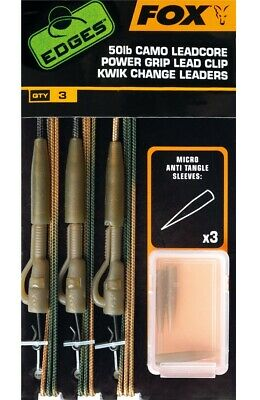 Fox Edges Tied Camo Leadcore Leaders *All Types* Fishing Leaders NEW  • 6.49£