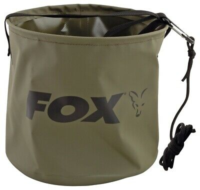 Fox Collapsible Water Bucket Large 10L Inc Rope & Clip NEW Carp Fishing - CCC049 • 13.99£