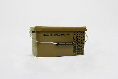 Sticky Baits Bucket 5.8L Fishing Bait Bucket NEW Olive Green • 7.99£