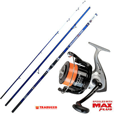KP4241 Surfcasting Evo Fishing Kit Seabasster Reel Supreme 8000 • 92.65£