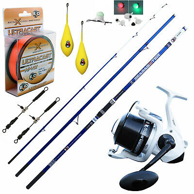 KP4255 Evo Surf Kit Rod Seabasster Reel 8000 Thread Lead Beams Alarm • 118.15£