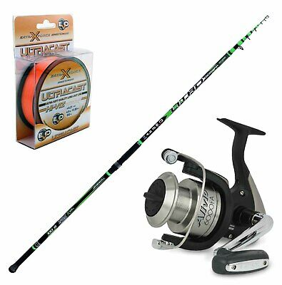 KP4250 Fishing Kit Beach Ledgering Rod Evo Litho Alivio Reel 6000 Filo • 93.42£