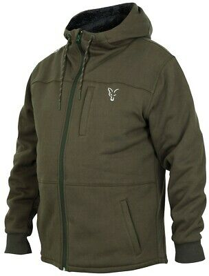 Fox Collection Green Silver Sherpa Hoody *All Sizes* Fishing Hoodie Jumper NEW • 49.99£