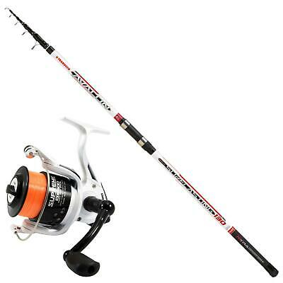 KP4374 Surfcasting Fishing Kit Avalon 400 Rod Evo Supreme 6500 Reel • 50.92£