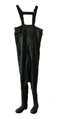 Brickers WADERS Fishing Gear, Black Green Chest Waders Waterproof UK 3 - UK 12 • 16.99£