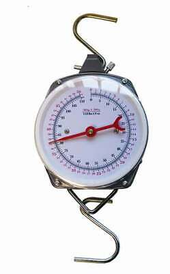 50kg Specimen Weigh Scales Carp Pike Catfish Fishing Dial Scales • 17.99£