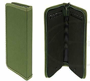 Stiff Rig Wallet Carp Fishing Ready Tied Rig Rigid Zipped Case With Pins • 8.99£