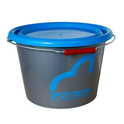 Spotted Fin - Match Bucket - 17 Litres With Lid • 12.99£