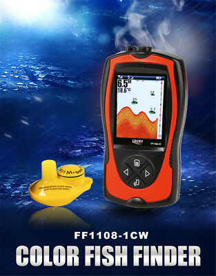 Lucky Wireless FF1108-1CW Fish Finder LCD Screen Sonar Smart Waterproof 100M • 46.99£