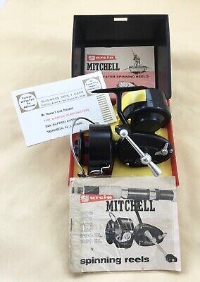 Vintage Cased Mitchell 300 Fishing Reel S / Spool Paperwork Collectors Condition • 150£
