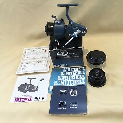 Ex.con.vintage Mitchell 400a Match Spinning Reel Spare Spool + Papers Year 1978 • 260£