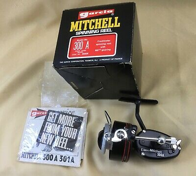 Purchased Sealed In Box Vintage Mitchell 300a Spinning Reel Paperwork Dated 1978 • 260£