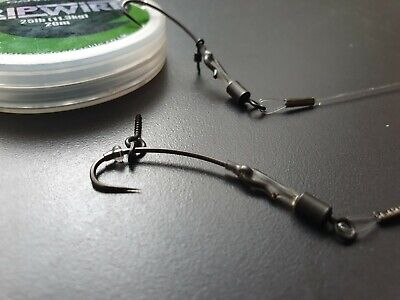 Ready Made Ronnie Rigs X6,size 6 Turndown Hook,stiff Invisible Boom. • 7.99£