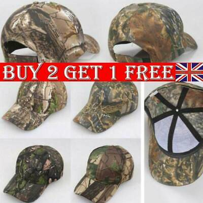 Men Camouflage Baseball Cap Army Sun Hat Hunting Fishing Military Tactic Cap UK • 5.39£