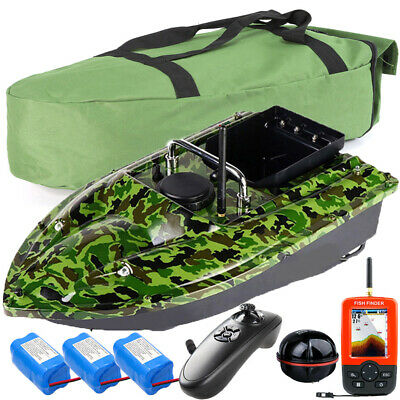 Wireless LED GPS Fishfinder With Fishing Bait Boat + Handbag +2 Spare Batteries • 158.99£