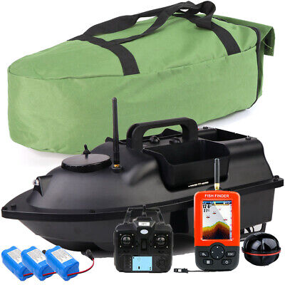 500M Wireless GPS Fishing Bait Boat Set With 3 Hoppers Handbag 2 Spare Batteries • 178.99£