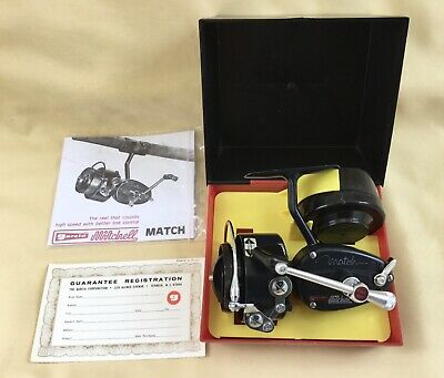 """Vintage Boxed Mitchell Match Reel + Spare Spool Paperwork """"excellent Condition"""" • 250£"""