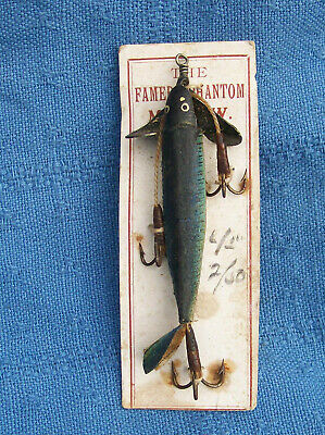 Antique Canvas  S ALLCOCK & Co Redditch The Famed Phantom Minnow, OLD STOCK • 10£