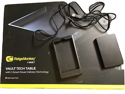 Ridgemonkey Bivvy Charging Table, New Unused Inc Charging Pack Lead And Dock • 49.99£