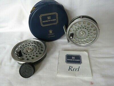 Hardy Marquis #7 Trout Reel In Hardy Case, Spare Spool Gear Cover And Pamphlet • 135£