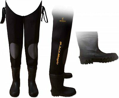 Browning Black Magic Neoprene Waders High Grip Soles Fishing SIZE 46/47 RRP £75 • 24.99£