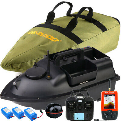 500M Wireless GPS Fishing Bait Boat With 3 Hoppers GPS Fishfinders Bag Batteries • 219.98£
