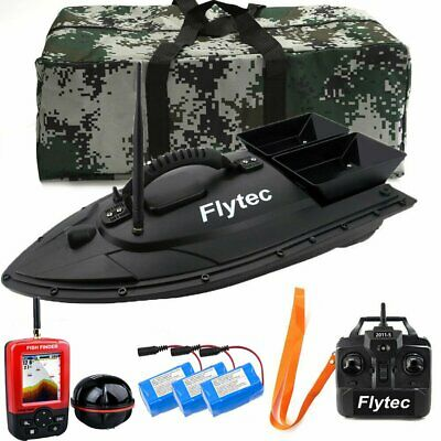 500M Wireless RC Fishing Bait Boat W/GPS Fishfinder 2Hoppers+Bag+Battery Angling • 175.99£