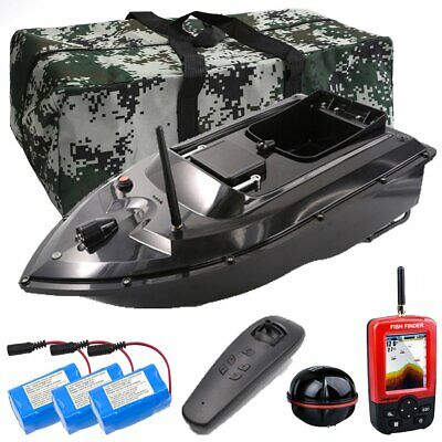 500M Wireless RC Fishing Bait Boat With GPS Fishfinder+Handbag Bag+Spare Battery • 159.99£