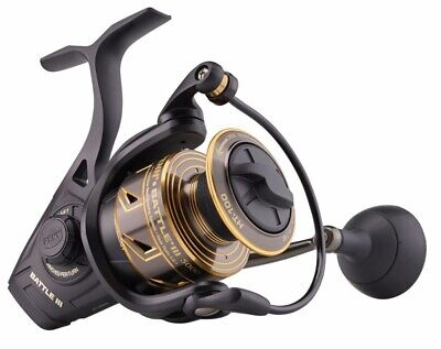 Penn Battle III 5000 Fixed Spool Spinning Fishing Reel • 95£