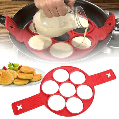 Silicone Pancake Maker Non Stick Mould Cooking Egg Omelette Tool Flip Ring • 3.99£
