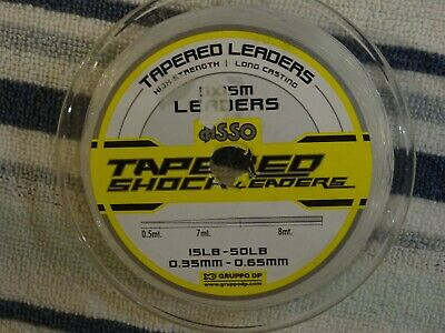1 X Spool Of ASSO 15lb - 50lb  TAPERED SHOCK LEADERS In Clear @ £9.00 • 9£