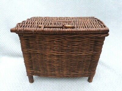 Vintage Wicker Creel Fishermans Basket. • 24.99£
