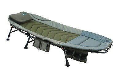 KMS Portable Fishing Bed Chair - XL Camping Bed With Tackle Storage • 129.99£