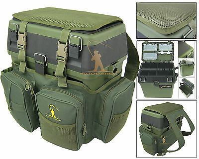 Fishing Seat Box & Rucksack Fly Sea Fishing Seat Back Pack Ruck Sack RODDARCH • 37.99£