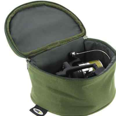 Fishing Reel Case Deluxe Padded Bag XL For Large Carp Coarse Pike Reels • 8.42£